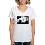 DarkLight FLower Women's V-Neck T-Shirt