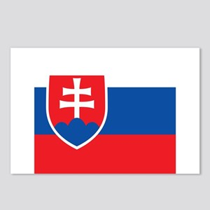 Flag of Slovakia Postcards (Package of 8)