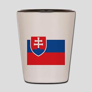 Flag of Slovakia Shot Glass