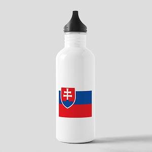 Flag of Slovakia Sports Water Bottle