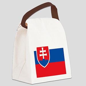 Flag of Slovakia Canvas Lunch Bag