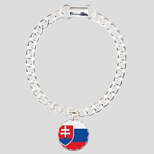 Flag of Slovakia Charm Bracelet, One Charm