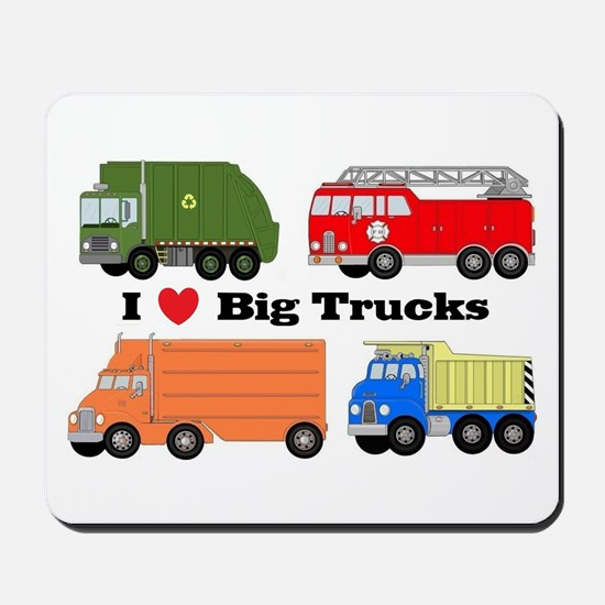 I Heart Big Trucks Mousepad