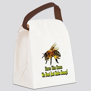 Save The Honey Bees Canvas Lunch Bag