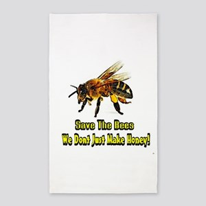 Save The Honey Bees 3'x5' Area Rug