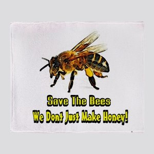 Save The Honey Bees Throw Blanket