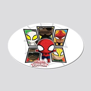 Itsy Bitsy Spiderman 20x12 Oval Wall Decal