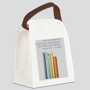 Tea and Books Canvas Lunch Bag
