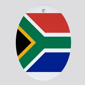Flag of South Africa Ornament (Oval)