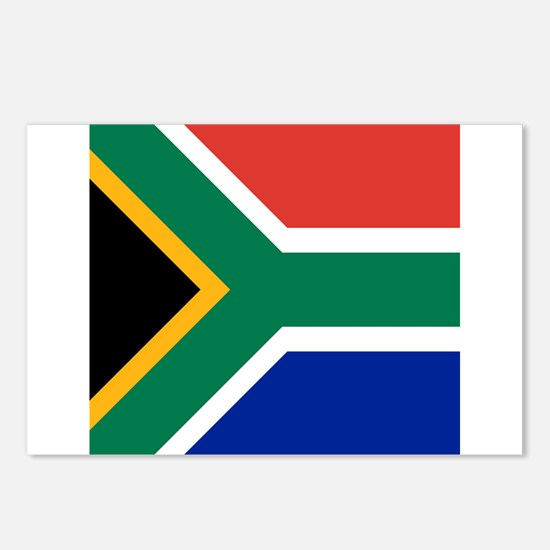 Flag of South Africa Postcards (Package of 8)