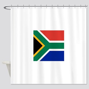 Flag of South Africa Shower Curtain