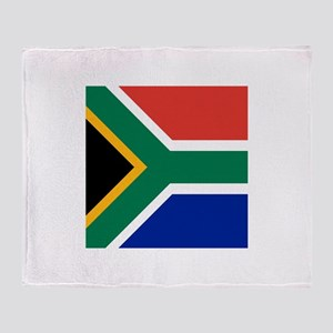 Flag of South Africa Throw Blanket