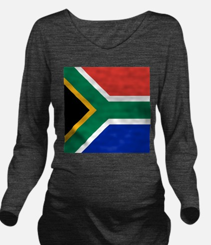 Flag of South Africa Long Sleeve Maternity T-Shirt