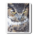 Great Horned Owl - Mousepad