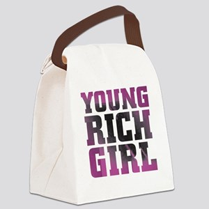 Pink Rich Girl Canvas Lunch Bag