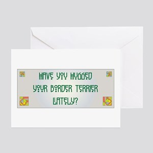 Hugged Terrier Greeting Cards (Pk of 10)