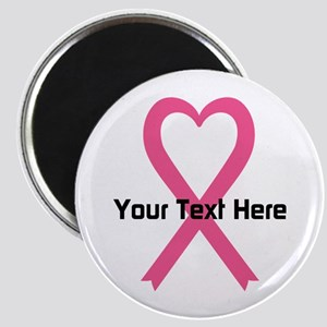 "Personalized Pink Ribbon He 2.25"" Magnet (10 pack)"