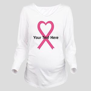 Personalized Pink Ri Long Sleeve Maternity T-Shirt