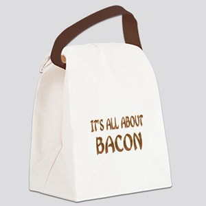 All About Bacon Canvas Lunch Bag