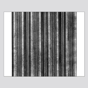 Black and white striped Newsprint texture Posters
