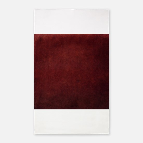 Red suede texture 3'x5' Area Rug
