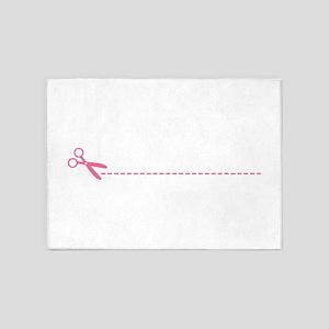 Scissor Cutting Line 5'x7'Area Rug