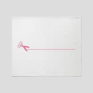 Scissor Cutting Line Throw Blanket