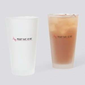 Measure Twice, Cut Once Drinking Glass