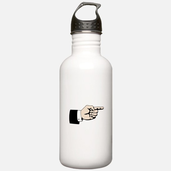 Poointing Male Hand Water Bottle