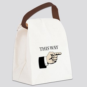 This Way Canvas Lunch Bag