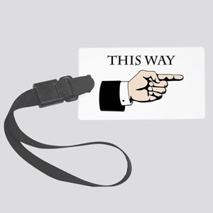 This Way Luggage Tag