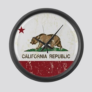 California Republic Distressed Flag Large Wall Clo