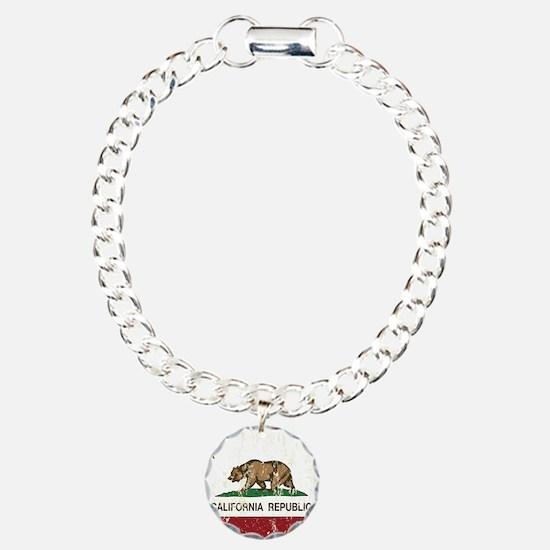 California Republic Distressed Flag Bracelet