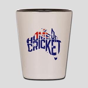 Australia Home of Cricket Map Shot Glass
