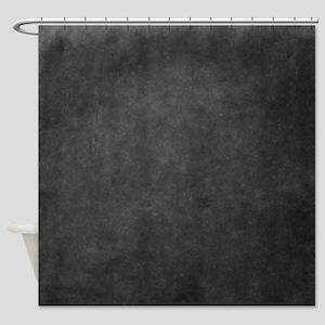 Grey suede texture Shower Curtain