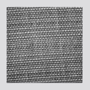 Black and white tablecloth texture Tile Coaster