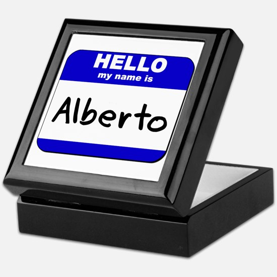 hello my name is alberto Keepsake Box