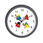 Sneable Sports Five Collection Wall Clock