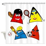 Sneables Sports Collection Shower Curtain
