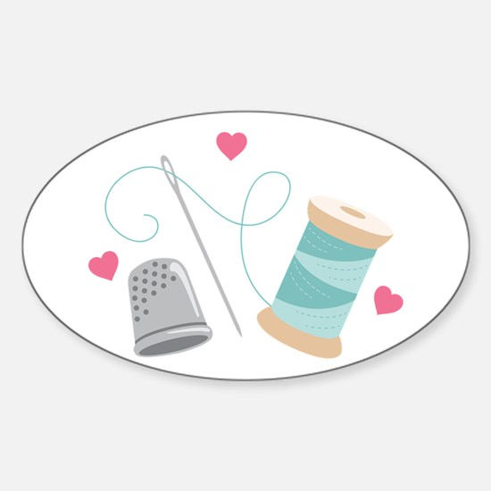 Heart Sewing supplies Decal