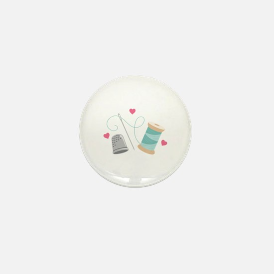 Heart Sewing supplies Mini Button