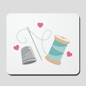Heart Sewing supplies Mousepad