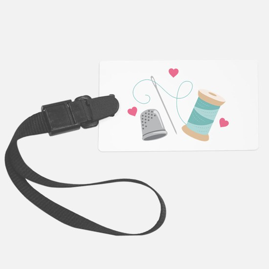 Heart Sewing supplies Luggage Tag