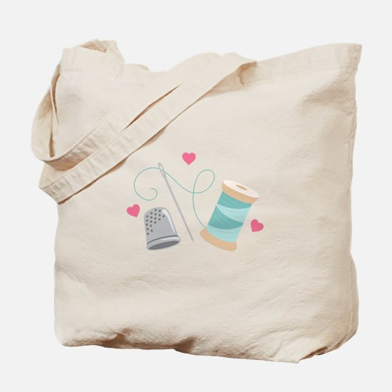 Heart Sewing supplies Tote Bag