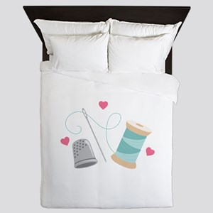 Heart Sewing supplies Queen Duvet