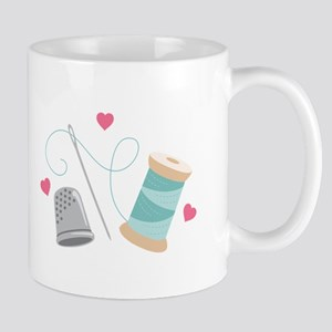 Heart Sewing supplies Mugs
