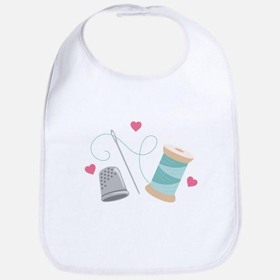 Heart Sewing supplies Bib
