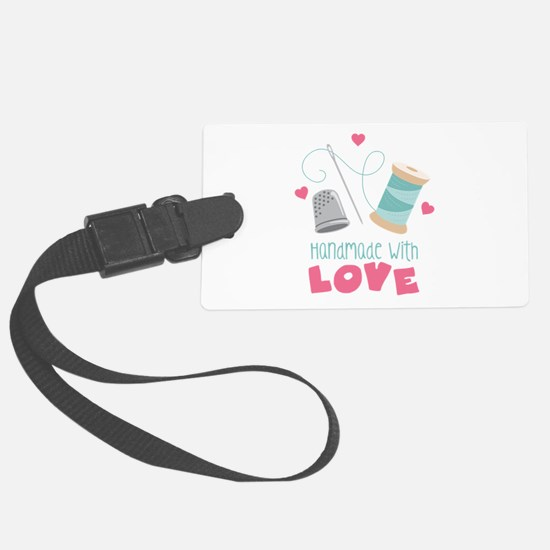 Handmade With Love Luggage Tag