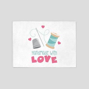 Handmade With Love 5'x7'Area Rug