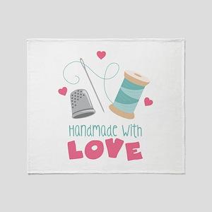 Handmade With Love Throw Blanket